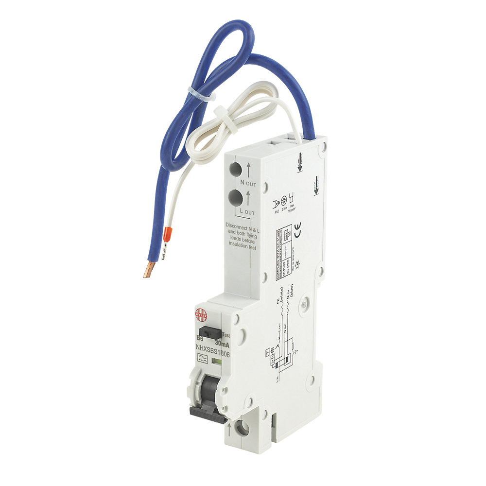 WYLEX NHXSBS1 Type B RCBO Sizes & Measurements